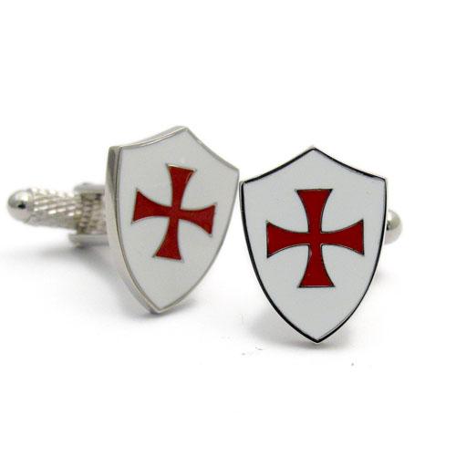 Crusaders Templar Knights Order Shield Cross TIE BAR