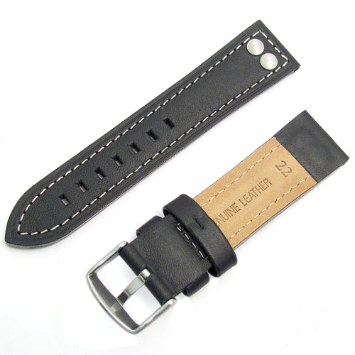 Chunky Men's Leather Watch Strap at WatchWatchWatch