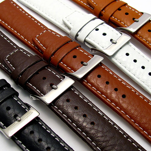 Men's Genuine Leather White Watch Strap Band